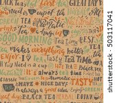 seamless pattern of words about ... | Shutterstock .eps vector #503117041