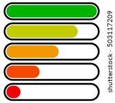 5 step progress  load bars in...