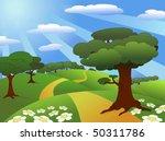 beautiful meadow landscape | Shutterstock .eps vector #50311786