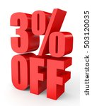 discount 3 percent off. 3d... | Shutterstock . vector #503120035