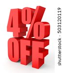discount 4 percent off. 3d... | Shutterstock . vector #503120119