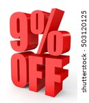 discount 9 percent off. 3d... | Shutterstock . vector #503120125