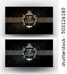 vip gold and silver cards with... | Shutterstock .eps vector #503126185