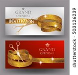grand opening gold curly... | Shutterstock .eps vector #503126239
