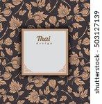 thai art pattern on brown... | Shutterstock .eps vector #503127139