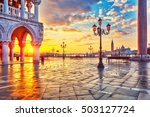 piazza san marco at sunrise ... | Shutterstock . vector #503127724