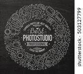 chalk board vector hand drawn... | Shutterstock .eps vector #503127799