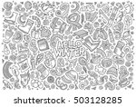 line art vector hand drawn... | Shutterstock .eps vector #503128285