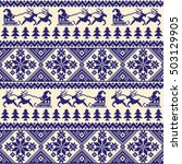 nordic tradition pattern | Shutterstock .eps vector #503129905