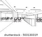 interior outline sketch drawing ... | Shutterstock .eps vector #503130319