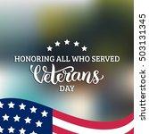 usa flag vector illustration... | Shutterstock .eps vector #503131345
