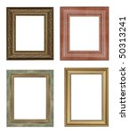 Four picture frames. High resolution - stock photo