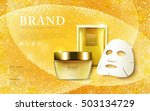 cosmetic ads template  cream... | Shutterstock .eps vector #503134729