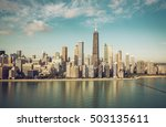aerial view   chicago downtown... | Shutterstock . vector #503135611
