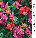 Vector Exotic Floral Pattern O...