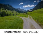 dirt road in the mountains  ... | Shutterstock . vector #503143237