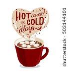 handmade cacao illustration... | Shutterstock .eps vector #503144101