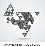 vector hipster triangle... | Shutterstock .eps vector #503151799