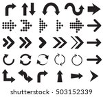 arrow. arrows icons. arrows... | Shutterstock .eps vector #503152339