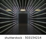 abstract interior. led lights... | Shutterstock . vector #503154214