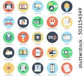 flat conceptual icon set of... | Shutterstock .eps vector #503154349