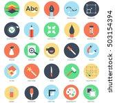flat conceptual icon set of...