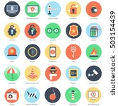 flat conceptual icon set of web ... | Shutterstock .eps vector #503154439