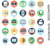 flat conceptual icon set of web ...