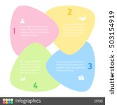 four steps cycle infographic... | Shutterstock .eps vector #503154919
