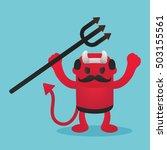 red devils in halloween | Shutterstock .eps vector #503155561