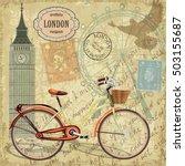 london vintage card. | Shutterstock .eps vector #503155687