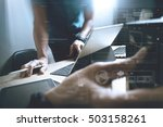 website designer working... | Shutterstock . vector #503158261