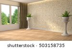 interior with large window. 3d... | Shutterstock . vector #503158735