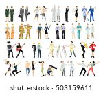 different professions set.... | Shutterstock .eps vector #503159611