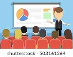business presentation concept.... | Shutterstock .eps vector #503161264