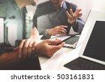 business team meeting. photo... | Shutterstock . vector #503161831