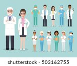 group of doctors and nurses and ... | Shutterstock .eps vector #503162755