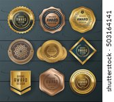 vector luxury premium badges... | Shutterstock .eps vector #503164141