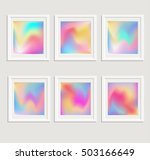 bright holographic backgrounds... | Shutterstock .eps vector #503166649