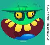 cartoon zombie face vector icon.... | Shutterstock .eps vector #503167441