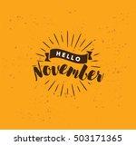 hello november. inspirational...   Shutterstock .eps vector #503171365