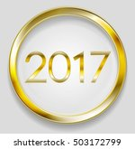 golden circle button with 2017... | Shutterstock .eps vector #503172799