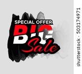 grunge ink design big sale...   Shutterstock .eps vector #503174971