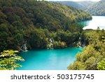 cascades of milanovac waterfall ...   Shutterstock . vector #503175745