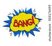 pop art logo. pop art bang logo.... | Shutterstock .eps vector #503176495