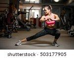 sport gym woman  | Shutterstock . vector #503177905