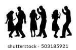Vector Silhouette Of Couple Wh...