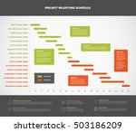 vector project timeline graph   ... | Shutterstock .eps vector #503186209