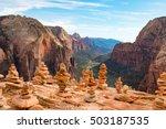 view from angels landing  zion... | Shutterstock . vector #503187535