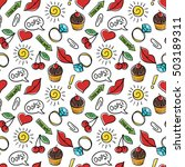 vector seamless pattern of... | Shutterstock .eps vector #503189311